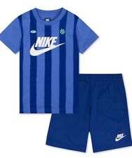 Nike Graphic Print Imperial Blue Athletic Shorts + Shirt Set 4 Boys $36 FreeShip