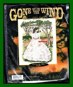 Cross Stitch KIT Scarlett O'Hara WHITE RUFFLES Leisure  Arts  Gone With the Wind