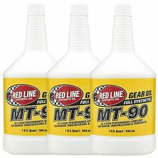 3 X Línea Roja MT90 75W90 caja de cambios de transmisión manual/Transaxle Aceite - 3 litros de Estados Unidos