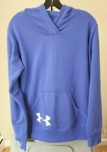 Under Armour Classic Blue Under Armour Large Hooded Sweatshirt