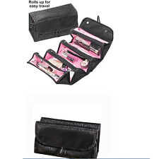 New Large Cylindrical Multifunction Travel Black Cosmetic Bag Toiletry Case
