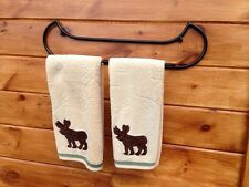 Canoe shaped Towel rack Perfect For Camp Cabin Lodge Home adirondack made!