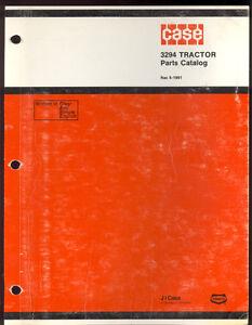 1984 J I CASE PARTS CATALOG  MODEL 3294 TRACTORS