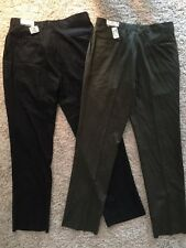 Nwts!!! 2 Pair Men's Jos. As. Banks Charcoal/Green Pleated Pants Sz 36 X 37
