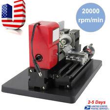 24W 20000rpm Motorized Mini Metal Working Lathe Machine Diy Tool Hobby Lathe Us