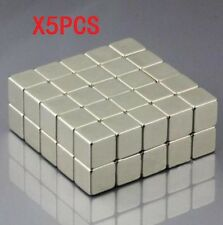 5pc Neodymium Block square Magnet 10x10x10mm N52 Super Strong Rare Earth Magnets