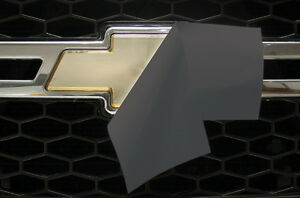 Chevy Vinyl Sheet x2 FITS Chevy Bowtie Emblem Logo NIMBUS GRAY Decals U-CUT Trim
