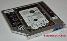Universal SATA 3 III 2nd HDD SSD Caddy Adapter swap 9.5mm DVD ODD Optical Drives