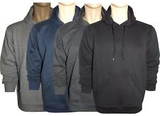 Mens Women Plain PolyCotton Fleece Hooded Tops Hoodies Sweats Jumpers Size M-XXL