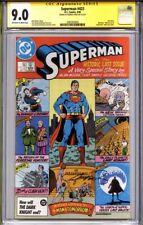 Superman #423 Cgc 9.0 Ss George Perez (last issue) Alan Moore Story