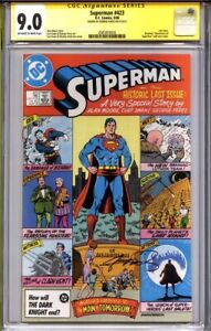 SUPERMAN #423 CGC 9.0 SS GEORGE PEREZ (last issue) Alan Moore Story