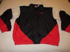 Mens Vintage Nike Track Jacket Size Xl Nice Shape Red Black White