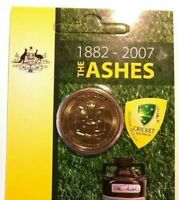 2007 $1 Brilliant UNC Ashes Carded Cricket Limited and Rare Collectable