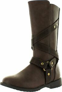 Boots Dress  Brown Kenneth Cole Danica Mix  NEW  Little Girls Size 8