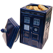 Official Doctor Who TARDIS Ceramic Cookie Jar Biscuit Tin Container - Boxed New