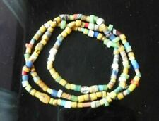 African Lovely Striped Sand cast Mixed Glass Beads Vintage Necklace