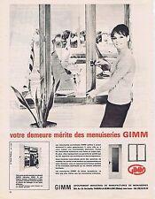 PUBLICITE ADVERTISING 025 1965 GIMM menuiserie
