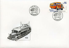 Czech Republic 2017 FDC Postal Bus 1v Set Cover Buses Motoring Stamps