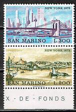 San Marino Art Famous New York Architecture 300 years apart set 1973 MLH