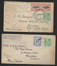 TONGA 1935 TWO COVERS MAILED ON NIUAFOOU ISLAND BT TIN CAN MAIL ABOARD CRUISER