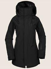 2019 NWT WOMENS VOLCOM LEDA GORE-TEX JACKET $270 S Black hooded pockets