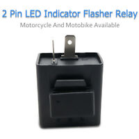 Turn Signal Flasher Blinker Relay 12V 2 Pin for Motorcycle LED Indicator Light