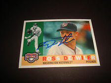 Ross Detwiler Nationals 2009 Topps Heritage #670 Signed Authentic Autograph 920