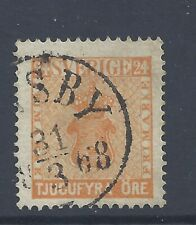 SWEDEN 1858 24ö ORANGE USED  SG 9