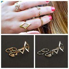 Gliederringe Knuckle Ring Fingerkuppen Ringe PUNK SQUARE Gold und Silber Auswahl