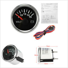 52mm Backlight Pointer Stainless Steel Volt Meter Gauge 8-16 Volts For Car Boat