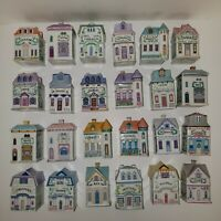 1989 Lenox Spice Village Houses Fine Porcelain Complete Set of 24 Spice Jars