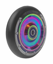 Hollow Solid Core 100mm Neochrome Rainbow Chrome Stunt Scooter Wheel Mixed PU