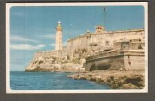 unmailed Chicago and Southern Airlines post card Morro Castle Havana Cuba