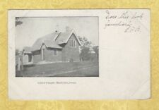 CT Hadlyme Conn 1906 Antique postcard GRACE CHAPEL to Kup in Brooklyn NY