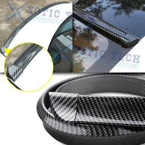 4.5Ft Universal Carbon Fiber Rear Trunk Tail Roof Lip Spoiler Wing Decor Trim