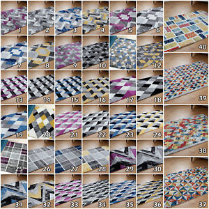 Large Modern Clearance Geometric Cheap Low Cost Living Room Area Grey Rugs Sale