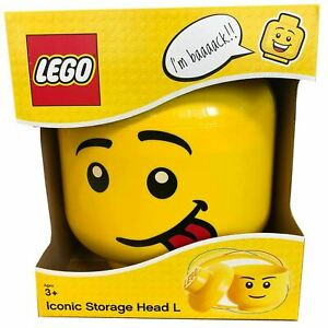 LEGO STORAGE HEAD LARGE SILLY BOY BRAND NEW IN BOX FREE P&P BOYS