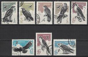 RUSSIA,USSR:1965 SC#3124-31 Used CTO Birds