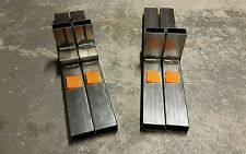 "QTY 2 PAIRS: 20"" Target shooting stands WELDED STEEL / Sign holders / HEAVY DUTY"