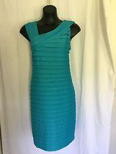 Size 14 Smart Flattering Turquoise Bandage Dress