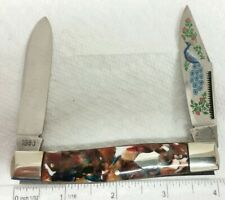 Bulldog S&D Cut Co. Peacock Moose knife, 1983, End of Day composite handles