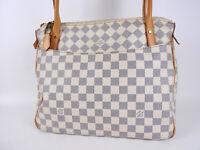 Auth LOUIS VUITTON Figheri PM Damier Azur Tote Bag Shoulder Bag N41176 V-3943