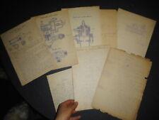 CHEMIN DE FER FRANCAIS environ 1900  lot de documents d'ingénieurs