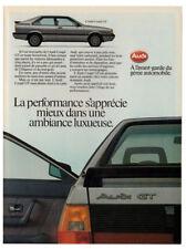1986 AUDI GT Coupe Vintage Original Print AD - Silver 2-door car photo Canada FR