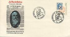 Sobre de Primer Día. La voz de Galicia centenario 1882-1982.