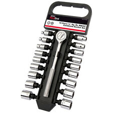 "HEAVY DUTY DRAPER 19PC 3/8"" DRIVE MM AF IMPERIAL METRIC SOCKET RATCHET SET"
