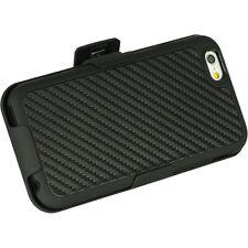 "iPHONE 6 / 6s 4.7"" Carbon Fiber PLATINUM SHEL-TEK KNIGHT Belt Clip Holster Case"
