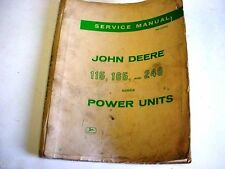 1963 John Deere SERVICE MANUAL 115, 165 & 248 Power Units