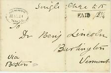 1830 Brunswick, ME to Burlington, Vt via Boston
