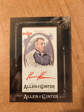 2017 Topps Allen & Ginter - Kevin Kelley - Red Mini Framed Auto #'d 02/10